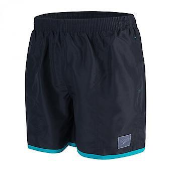 """Speedo farge blokk 16"""" svømme Shorts, sort/grønn"""