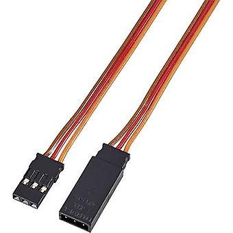 Servo kabelförlängning [1x JR-kontakt - 1x JR-uttag] 0,50 m 0,14 mm² band Modelcraft