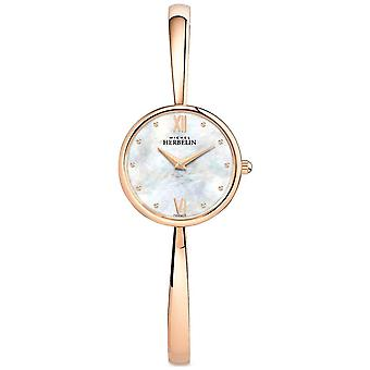 Michel Herbelin Ladies Rose Gold Rose Gold Bangle 17408/BPR19 Watch