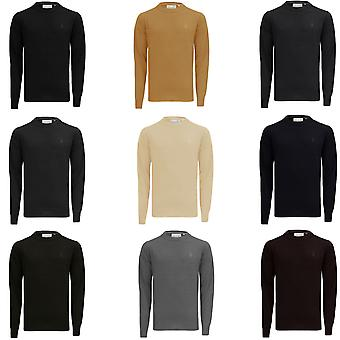 Soul Star Mens Plain Crew Neck Jumper Casual Basic Sweater Pullover Top