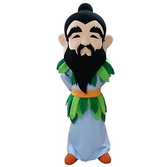 mascot SPOTSOUND of bearded man with a colorful outfit
