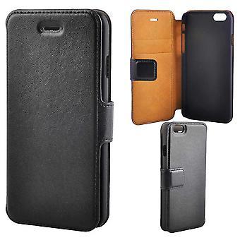 Super Slim Luxury Wallet Case For iPhone 6/6S, Black