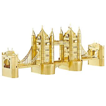 3D model kit in metal (architecture, gold)