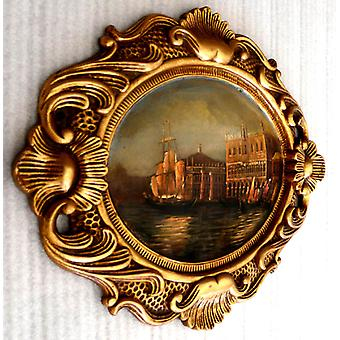 Venedig, Ölgemälde mit Rahmen, 32x42 cm ny02