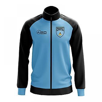 Saint Lucia käsite jalkapallo Track Jacket (Sky)