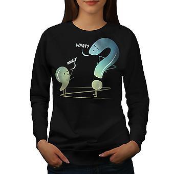 Kielioppi Funy Naiset BlackSweatshirt | Wellcoda, mitä sinä olet?