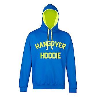 مخلفات Hoodie الياقوت الأزرق مع الأصفر نيون