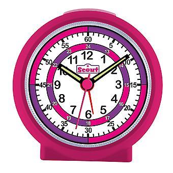 Scout filles réveil alarme LearnTheTime rose 280001015