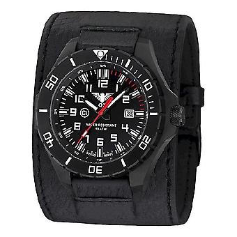 KHS watches mens watch black steel KHS country leader. LANBS. LK