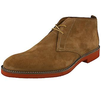 Mens Loake Oiled Suede Desert Style Lace Up bottes Lennox