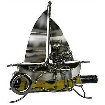 Weinflasche Halter Liebespaar auf dem Boot