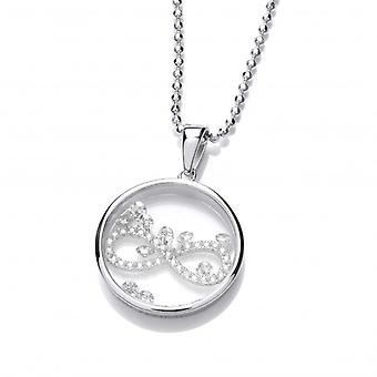 Cavendish French Celestial Silver and CZ Infinity Pendant with Silver Chain
