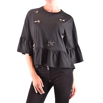 Mcq Door Alexander Mcqueen Ezbc053040 Women's Black Cotton Top