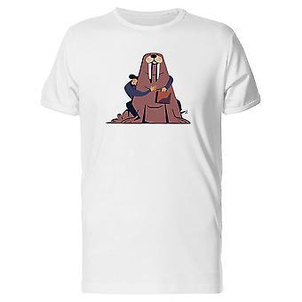 Brown Walrus And Man Friend Tee Men's -Image by Shutterstock
