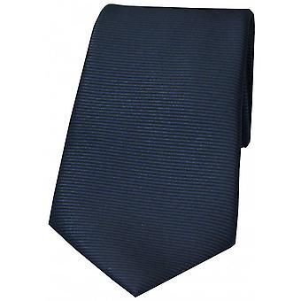 David Van Hagen vandret ribbede Polyester slips - Navy