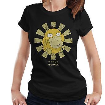 T-shirt Psyduck Retro japonês Pokemon feminino