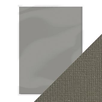 Craft Perfect by Tonic Studios A4 Weave Textured Card 10pk Pewter Grey