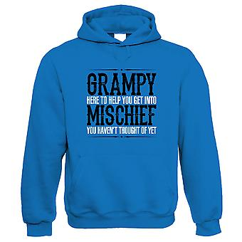 Grampy Mischief Mens Funny Hoodie - Verjaardag Vaders Dag Cadeau voor opa