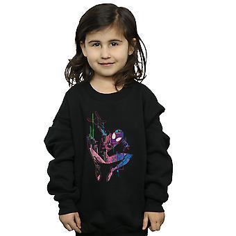 Marvel Girls Spider-Man Into The Spider-Verse City Colour Sweatshirt