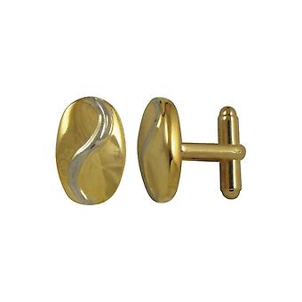 Eternal Collection Signor Two Tone Gold And Silver Oval Cufflinks