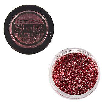 PaintGlow Glitter Shaker Holographic Red & Fixative Gel
