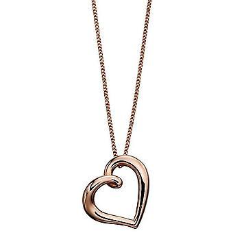 Elements Gold Organic Heart Pendant - Rose Gold