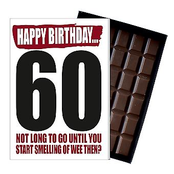 Funny 60th Birthday Gift For Men Women Rude Boxed Chocolate Greetings Card Present IYF162