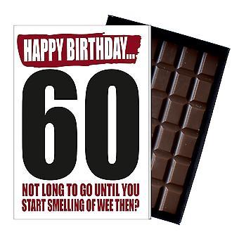 Lustige 60. Geburtstagsgeschenk für Männer Frauen Rude Boxed Schokolade Grüße Karte Geschenk IYF162