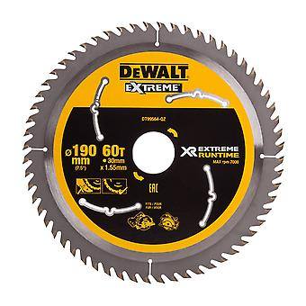 DeWALT DT99564-QZ Xtreme Runtime 190mm x 30mm 60T Sawblade