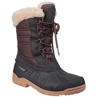 Cotswold Womens coset impermeável velo forrado botas de neve