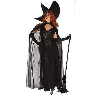 Elegant Witch Gothic Sorceress Enchantress Halloween Story Book Womens Costume