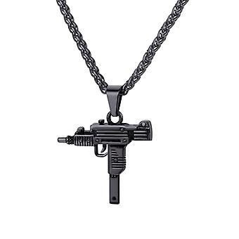 Necklace, automatic Weapon-black