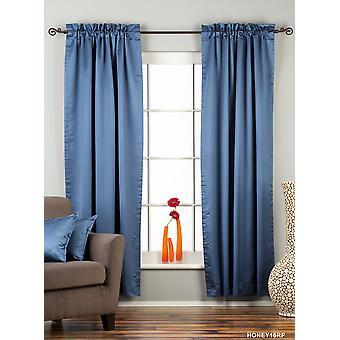 Blue Rod Pocket 90% blackout Curtain / Drape / Panel  - Piece
