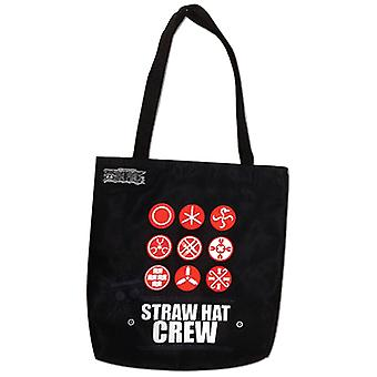 Tote Bag - One Piece - Hanko Stamps Straw Hat Crew New Licensed ge82291