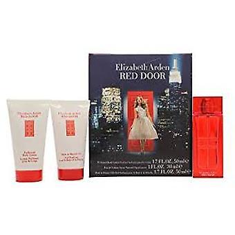 Elizabeth Arden Red Door gift set 30ml EDT + 50ml parfymerad kroppslotion + 50ml bad & duschkräm