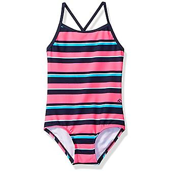 Kanu Surf Big Girls' Layla Beach Sport Banded 1-Pc Swimsuit, Bridget Pink/Nav...