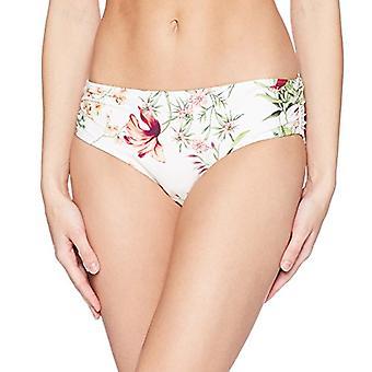 Carmen Marc Valvo Femmes's Bikini Bottom Maillot de bain avec Shirred Detail, Blanc, ...