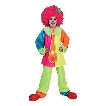 Neonvärinen lasten pelle puku typerä Billy poika Circus lasten puku karnevaali pojat