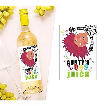 Aunty's Loco Juice Wine Bottle Label