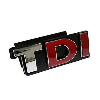 Chrome/Red/Black TDI Front Grill Badge Emblem For Volkswagen, Audi, Skoda, Seat