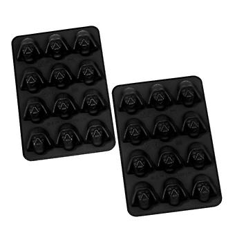 Star Wars Ice Cube Mold Darth Vader 2-set set material: 100% silicon. De asemenea, potrivit pentru bomboane de ciocolată.