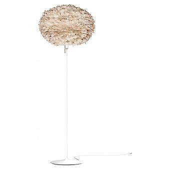 Umage Eos Floor Lamp - Light Brown Feather Eos Large/White Stand