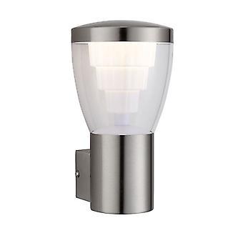 Saxby verlichting Carraway geïntegreerde LED 1 licht buiten muur licht geborsteld roestvrijstaal, transparant IP44 79197