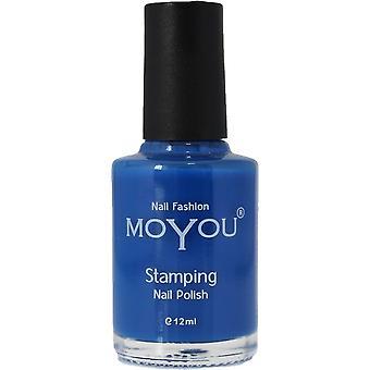 MoYou Stamping Nail Art - Special Nail Polish - Blue 12ml