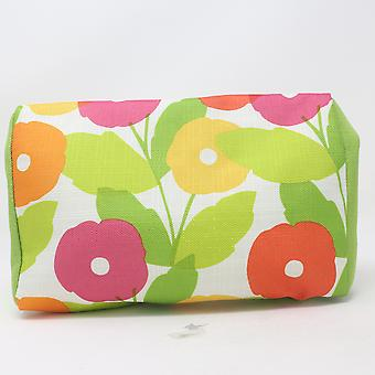 Clinique Green Flower Cosmetic Makeup Bag New