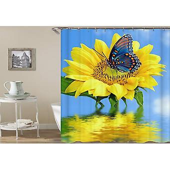 Solsikke ft Butterfly Shower gardin