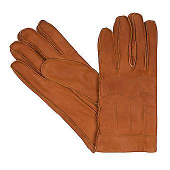 bugatti Herrenhandschuhe Handschuhe Vintage Ziegennappaleder Cognac 8360