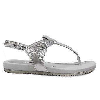 Tamaris 28107 Silver Womens Toe Post Sandals