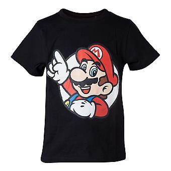 Super Mario Bros. It-apos;s a Me T-Shirt Kids Boy 122/128 Années 6 à 8 - Noir