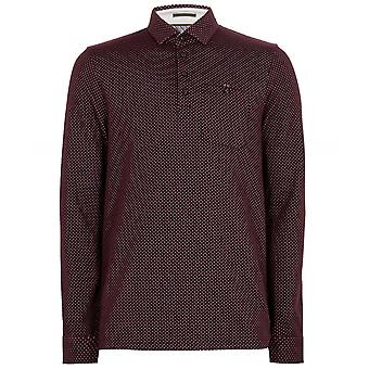 Ted Baker lange mouw micro print Outof Polo shirt